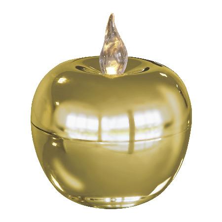 Свеча LED Яблоко золото