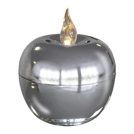 Свеча LED Яблоко серебро