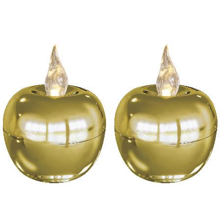 Свечи LED Яблоко мини 2 шт белый