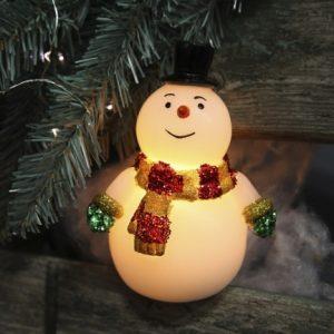 Свеча LED Снеговик