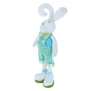 Декор «Зайчишка в зелёном комбинезоне»
