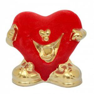 Копилка «Сердце» красная, булат