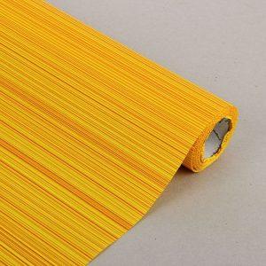"Бумага упаковочная крафт ""Полоски люкс"", желто-оранжевая, 0.5 х 1 м 1304867"