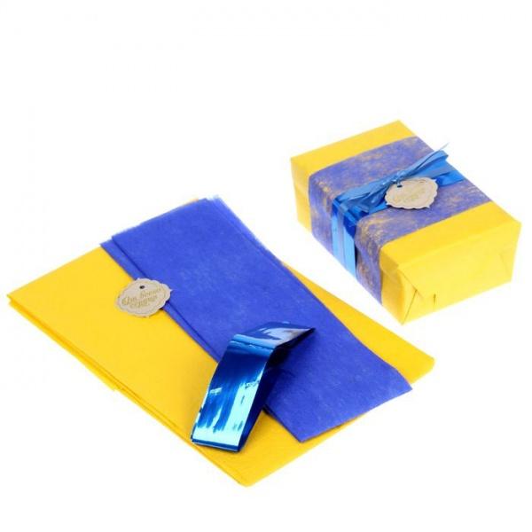 """Набор для упаковки подарка """"Контраст"""" (бумага упаковочная+декор)   150187"""