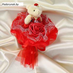 """Букет из игрушек """"Принцесса"""" красный 1099810"""
