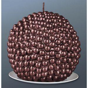Свеча шар жемчужный шоколад   1612322