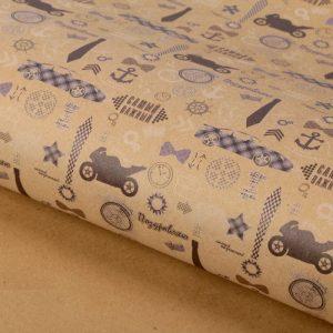 Бумага упаковочная крафт «Джентельмен», 50 х 70 см   1682431