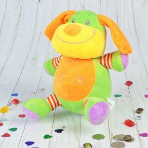 Мягкая игрушка-копилка «Собачка», лает, оранжевый носик
