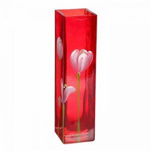 Ваза «Олень» тюльпаны на красном