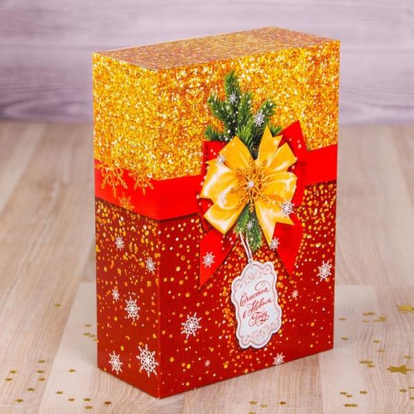Коробка складная «Сверкающий Новый год»,16 х 23 х 7,5