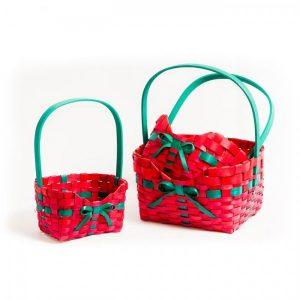 Набор корзин плетеных, 3 шт, прямоугольные, 27 х 21 х 33 — 16 х 10 х 27 см