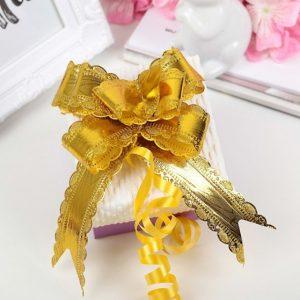 Бант-бабочка №3, цвет золотой