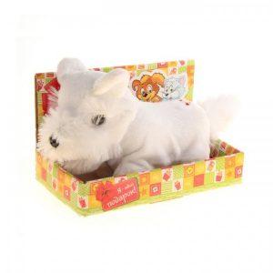 Мягкая игрушка интерактивная «Щенок» в коробке, цвет белый