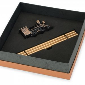 Набор «Локомотив»: точилка для карандашей, 3 карандаша в подарочной упаковке
