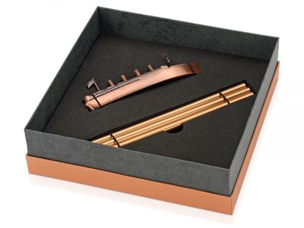 """Набор """"Морской лайнер"""": точилка для карандашей, 3 карандаша в подарочной упаковке"""
