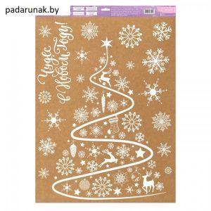 Наклейка для окон «Новогодняя елочка»