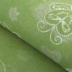 Флизелин «Крылья любви», цвет зеленый