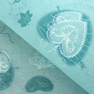 Флизелин «Крылья любви», цвет голубой