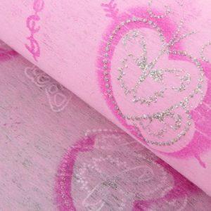 Флизелин «Крылья любви», цвет светло-розовый