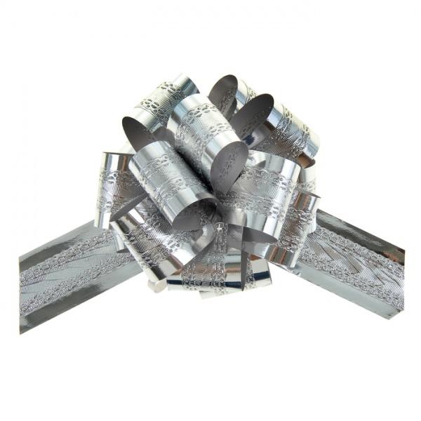 Бант-шар №3,2 полоса, серебро 848849