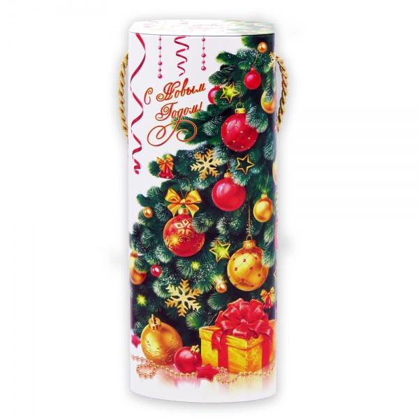 Новогодний подарок №6 «Жестяная Туба Елка NEW» 1000 г   отличный