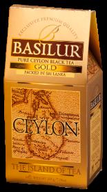 Чай «Basilur» «Ceylon the island of tea» карт. GOLD 100г.*24, черн. Чайн. Остров Цейлон Золотой