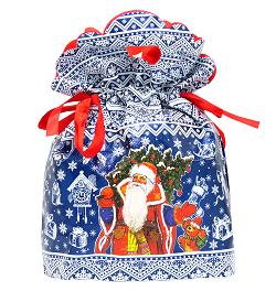 Новогодняя упаковка Мороз Иваныч синий 1000 г / 1200 г (МЕТАЛЛИЗИРОВАННЫЙ)