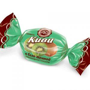 КИВИ в бело-темной шоколадной глазури (цена за 1 кг)