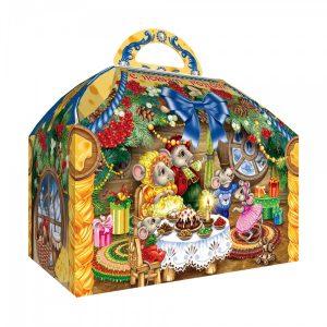 Новогодний подарок №8 «Ларец мышки в сыре NEW» 1000 г   премиальный (без карамели)