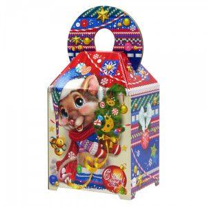 Новогодний подарок №11 «Мышь NEW» микрогофрокартон 1500 г    премиальный