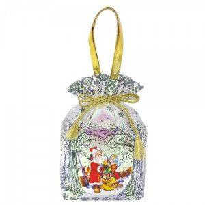 Новогодний подарок №8 «На полянке» мешочек 1000 г  премиальный (без карамели)