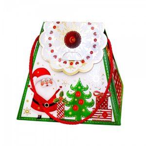 Новогодняя упаковка Сумочка-снежинка