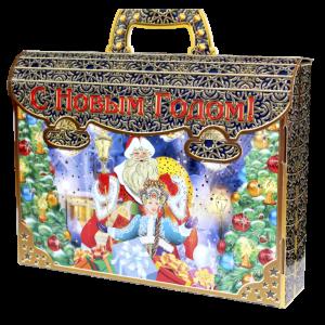 Новогодняя упаковка Портфель Серебро