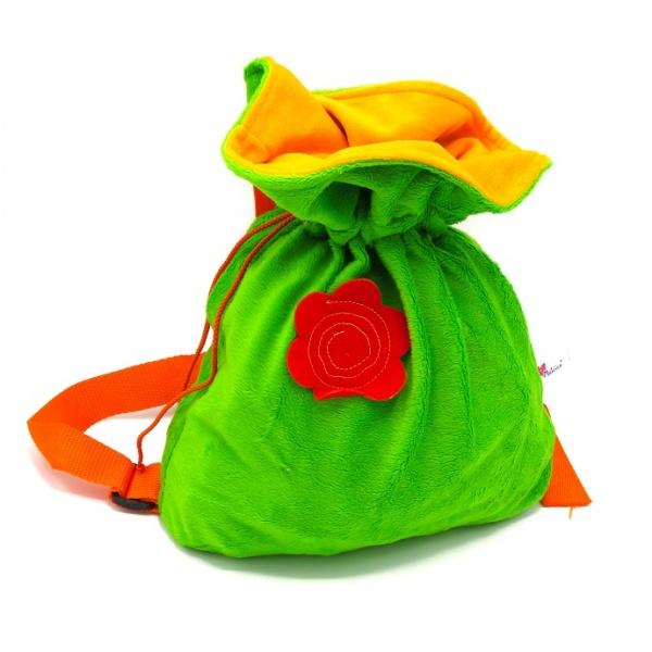 Новогодняя упаковка Мешок со сладостями зелёный 1000-1500г (рюкзак)