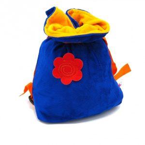 Новогодняя упаковка Мешок со сладостями синий 1000-1500г (рюкзак)