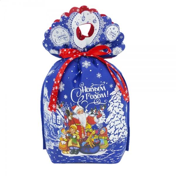 Новогодний подарок №8 «Снежный праздник (синий)» 1000 г   премиальный (без карамели)