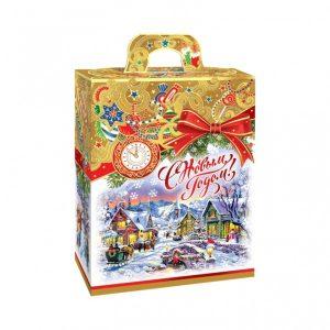 Новогодний подарок №3 «Золотое Рождество NEW» картон,  500 г  отличный