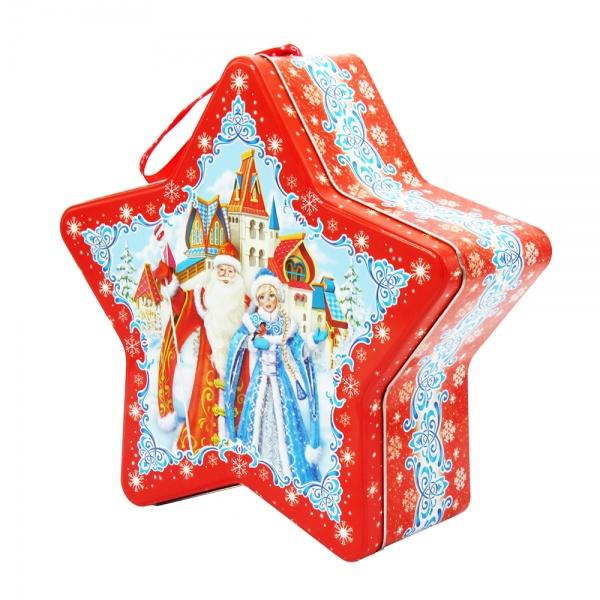 Новогодняя упаковка ЗВЕЗДА 1500Г (жестебанка)