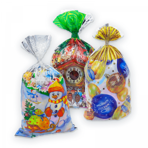 «Пакет Новогодний»(микс) №4 новогодний подарок  1000г
