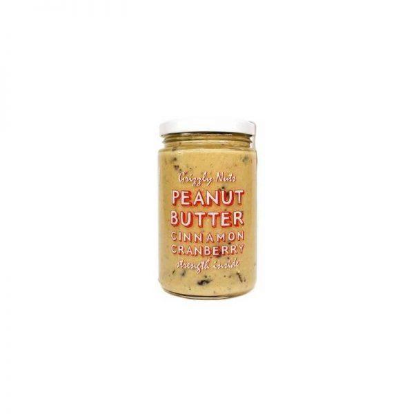 """Арахисовая паста с вяленой клюквой Cinnamon Cranberry, 370г, """"GRIZZLY NUTS"""""""