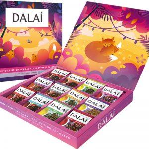 Чай Dalai limited edition. Коллекция чая 12 вкусов в подарочной упаковке , 60 саш.