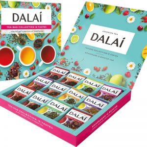 Чай Dalai Ассорти. Коллекция чая 12 вкусов, 60 сашетов