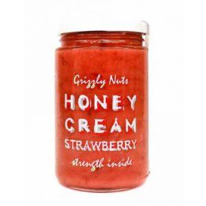 Крем-мед с клубникой, 470г «GRIZZLY NUTS»