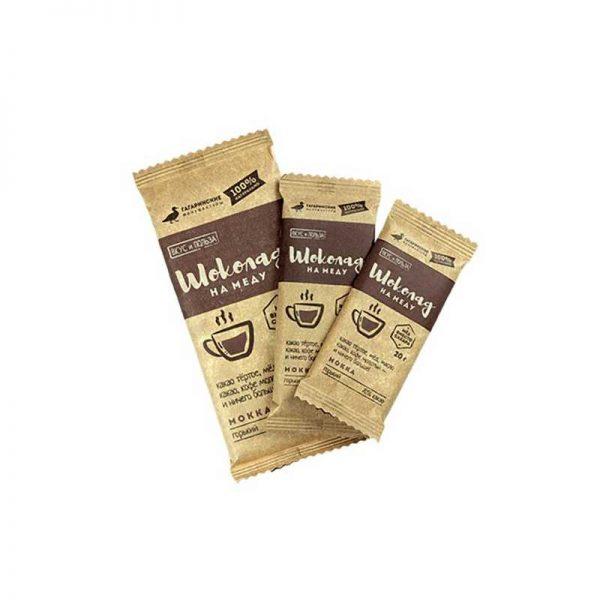 """Шоколад """"Шоколад на меду Вкус и Польза"""" горький 70% какао Мокка, 20 г  ГАГАРИНСКИЕ МАНУФАКТУРЫ"""