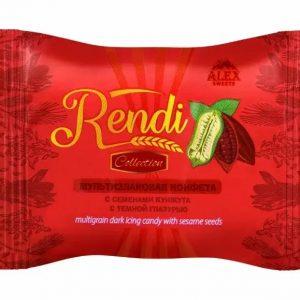 Мультизлаковые конфеты Rendi Collection с семенами кунжута с тёмной глазурью