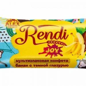 Мультизлаковые конфеты Rendi Joy банан с темной глазурью