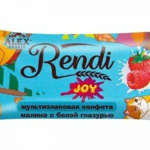 Мультизлаковые конфеты Rendi Joy: малина с белой глазурью