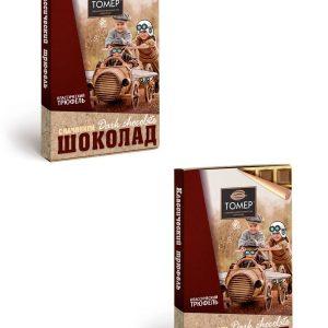 Шоколад темный с начинкой Классический трюфель  115г