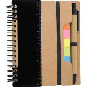 Блокнот с ручкой для заметок со стикерами V2991 – Черный AA