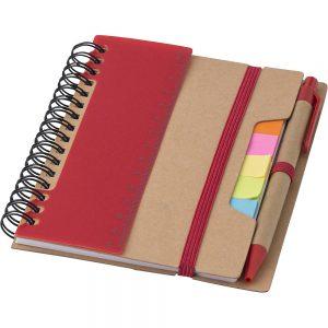 Блокнот с ручкой для заметок со стикерами V2991 – Красный PP